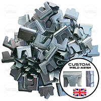 clp2412g ct35 wire mesh clips uk made www.customweldmesh.co.uk fencing gabions clips