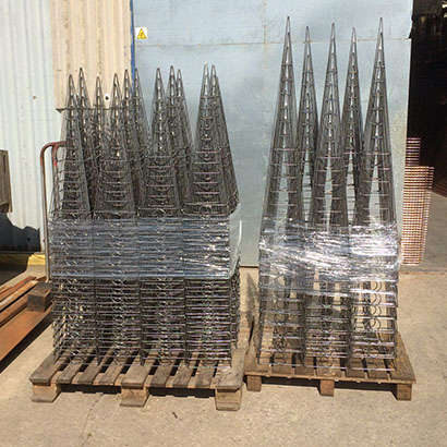 wire working north west UK made to size wire mesh 6mm wire frames wire forming